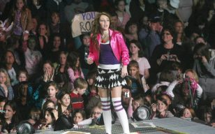 Newark, NJ . USA. Miley Cyrus (Hannah Montana)  performing live in concert at the Prudential Center in Newark, NJ, USA.  30th December 2007.  Ref:LMK33-3387MDUG-020118 Mary Duggan/ Landmark Media  WWW.LMKMEDIA.COM NO WEBSITE USE WITHOUT PRIOR AGREEMENT OR ARRANGEMENT.