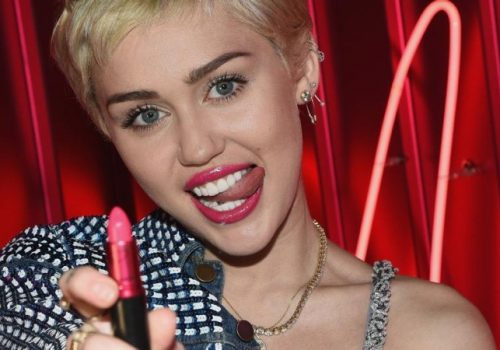 LOS ANGELES, CA - JANUARY 21:  MAC Cosmetics launches VIVA GLAM Miley Cyrus on January 21, 2015 in Los Angeles, California.  (Photo by Michael Buckner/Getty Images for MAC Cosmetics)